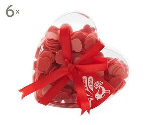 Set de 6 cajas con jabón en forma de corazón Confeti