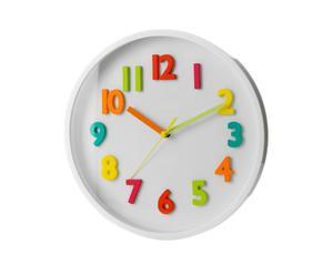 Reloj de pared Numbers, multicolor - Ø25 cm