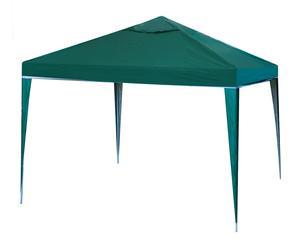 Pérgola plegable de acero y poliéster, verde - 300x300 cm