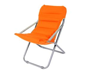 Silla plegable en hierro y polifibra - naranja