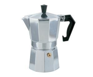 Cafetera moka de aluminio, plateado - 9 tazas