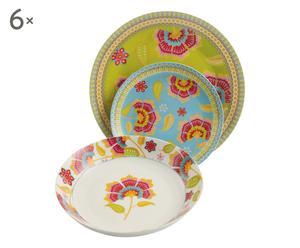 Vajilla de porcelana Oriental - 18 piezas