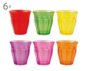 Set de 36 vasos de plástico Fluo