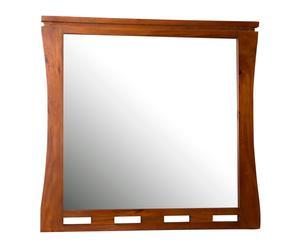 Espejo de pared en madera de caoba - 100x90 cm
