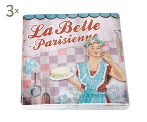 Set de 60 servilletas de papel de papel Chica Vintage Alberte