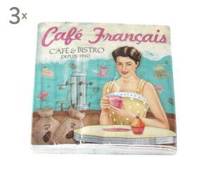 Set de 60 servilletas de papel de papel Chica Vintage Alessia