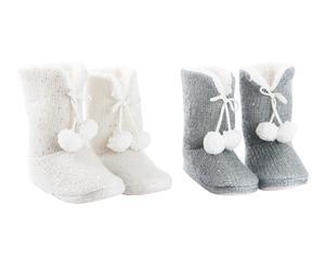 Set de 2 pares de zapatillas de casa Nordic - 38 / 40