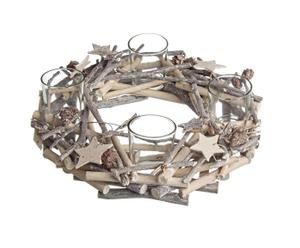 Corona de navidad Rurik, marrón - Ø30 cm