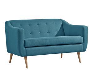 Sofá de 2 plazas Middy - azul turquesa