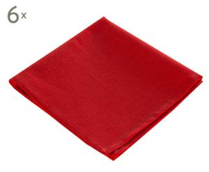 Set de 6 servilletas algodón- rojo