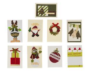 Set de 9 tarjetas de felicitación Greetings