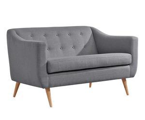 Sofá de 2 plazas Middy - gris
