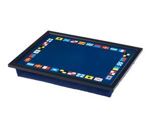Bandeja acolchada para ordenador portátil Código de Señales - azul