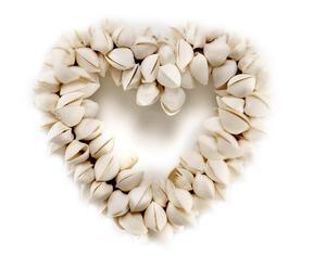 Corazón decorativo de conchas marinas