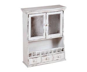 Alacena-estantería de madera - blanco