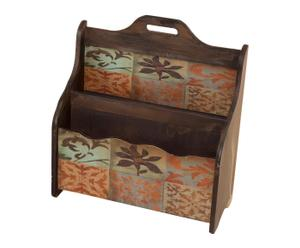 Revistero de pared de madera – marrón