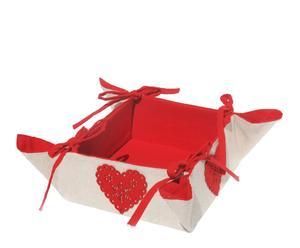 Panera de algodón - rojo y beige