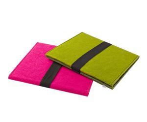 Set de 2 fundas para tabletas - rosa y verde