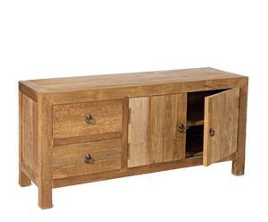 Aparador con 2 cajones y 2 puertas en madera de teca reciclada– natural