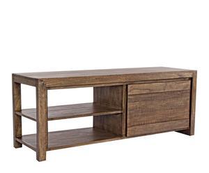 Mueble de televisión en madera maciza de mango y madera md jamila – natural