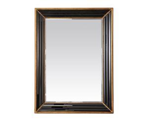 Espejo de madera – negro y dorado