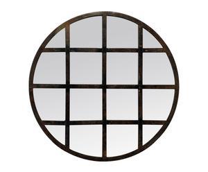 Espejo de metal Ventana – marrón y negro óxido