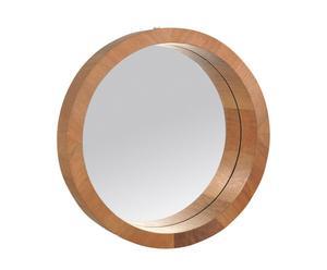 Espejo de madera, redondo – marrón