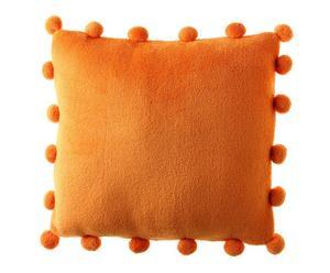 Cojín pom pom - naranja