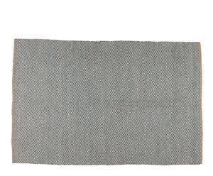 Alfombra de yute falls, gris - 230x160