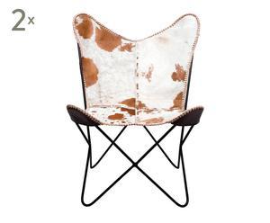 Set de 2 sillas Butterfly – vaca