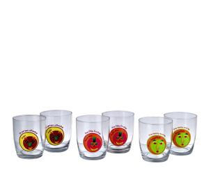 Set de 6 vasos de vidrio – multicolor