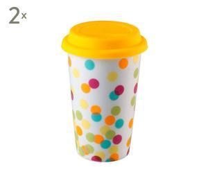 Set de 2 mugs en cerámica Confeti – multicolor