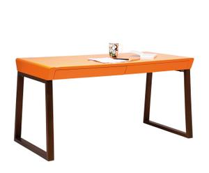 Escritorio en chapa de madera – naranja y marrón