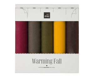 Caja regalo con 5 rollos de 10 servilletas Fall – 20x20