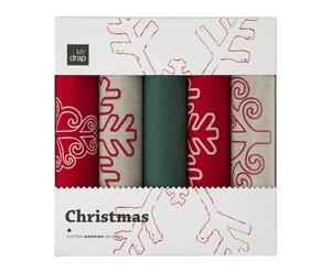 Caja regalo con 5 rollos de 10 servilletas Christmas – 20x20