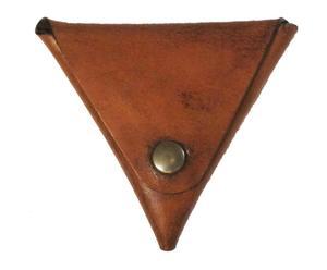 Cartera de piel Triangle – marrón desgastado