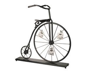Portafotos bicicleta antigua – negro