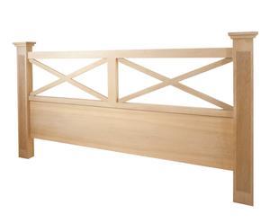 Cabecero doble de madera de haya - Natural blanqueado