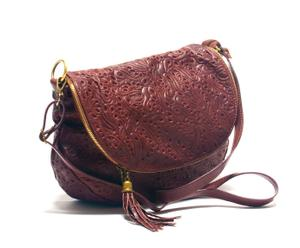 Bolso bandolera con detalle – marrón