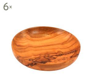 Set de 6 platos de madera – pequeños