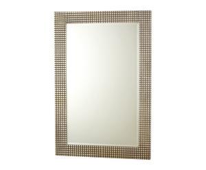 Espejo rectangular de madera – plata