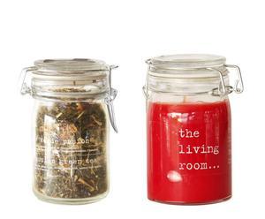 Caja regalo con vela aromática y té verde de pasión