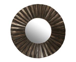 Espejo de madera moneda - negro