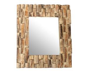 Espejo de madera mosaico - marrón decapado