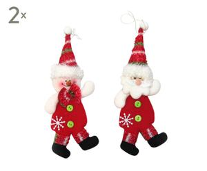 Set de 4 figuras decorativas de tela Noel
