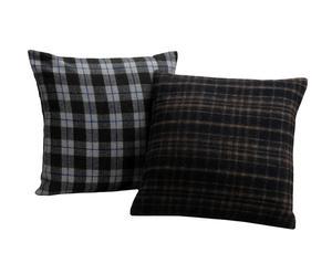 Set de 2 fundas de cojín, negro y gris – 40x40