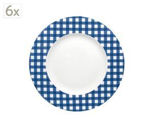 Juego de 6 platos – azul