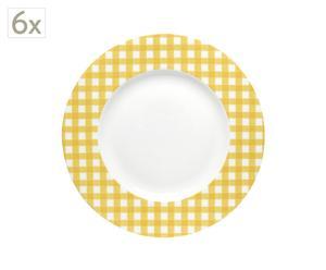 Juego de 6 platos – amarillo