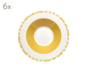 Juego de 6 platos de sopa – amarillo