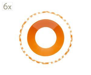 Juego de 6 platos de sopa – naranja
